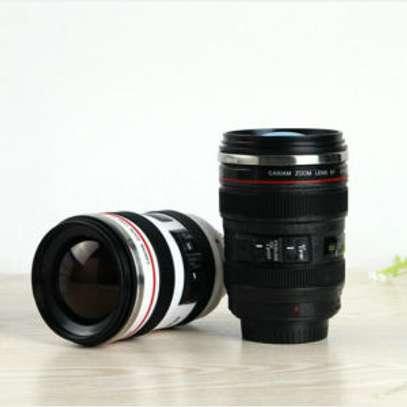 Coffee Mug Black Thermos Camera Lens Cup 24-105mm Travel Tea Cup birthday Gift image 1
