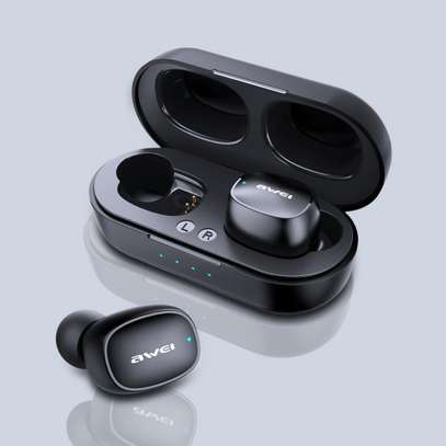 Awei T13 Dual TWS Bluetooth 5.0 Noise Cancelling Earphones ,Mic image 1