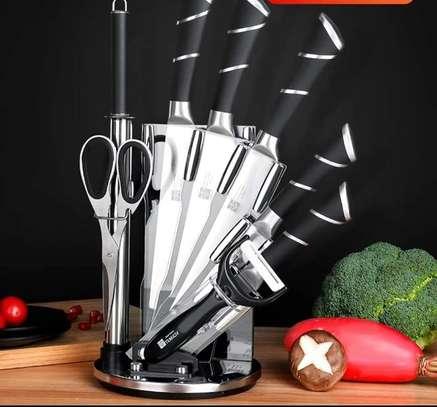 8 Piece Knife Set with Acyrlic Stand image 1