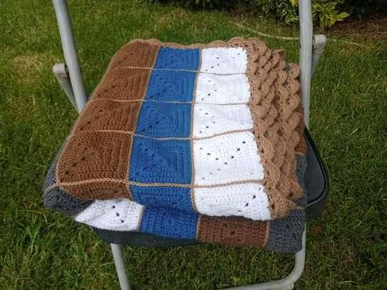 Handmade crochet throw Blanket image 4