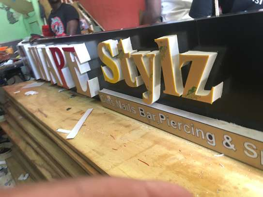 We do quality 3D signage, Light box signage, corporate logos.. contact us for pricing image 13
