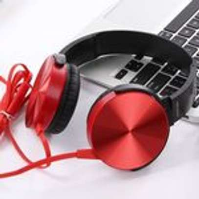 Super Bass Wired Headphones with Bass Booster-Red image 1