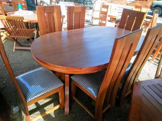 Oval shaped dining set image 2
