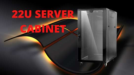 22U Server Cabinet (Black) image 1