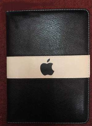 Leather Apple Logo Book Cover Case With In-Pouch For Apple iPad Air 2 9.7 inches image 4