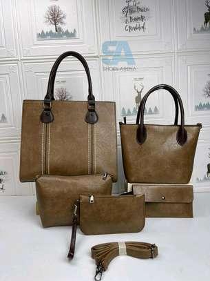 Fancy 5 in 1 Leather Handbags image 2