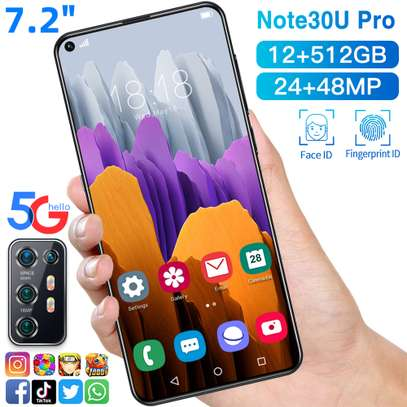 NOTE 30U+ PRO SMARTPHONE 12GB+512GB 7.2INCH FULL SCREEN MOBILE PHONE FINGER & FACE UN-LOCKED CELLPHONE @ KSH 18000/- image 1