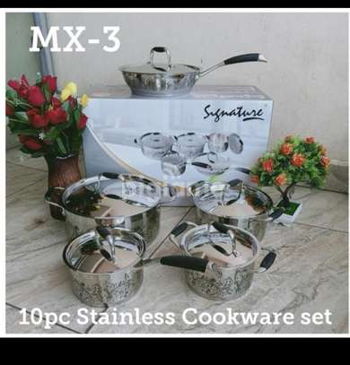10 PC stainless steel cookware