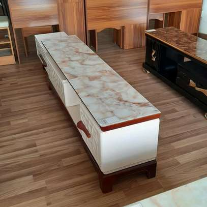 Marble top extendable TV Stand image 1
