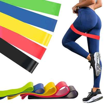 5 in 1 yoga stretch out strap with resistance band