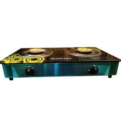Sathiya Stainless Steel 2-Burner Gas Cooker-Non Stick 2 Burner Stove image 3