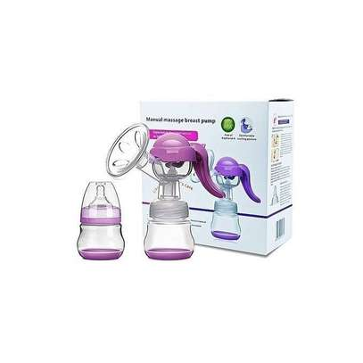 Healthy Manual Breast Pump + Free Baby Bottle Cap image 1
