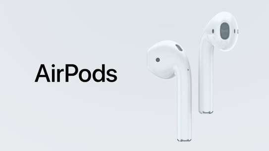 Apple MMEF2AM/A AirPods Wireless Bluetooth Headset for iPhones with iOS 10 or Later White image 1