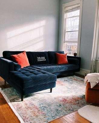 L shaped sofas/six seater L shaped seat image 1