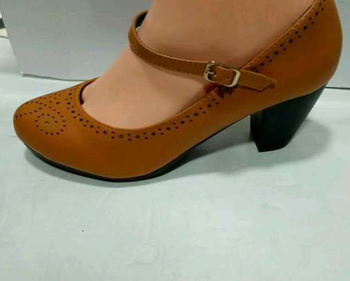 Ladies leather official shoes image 1