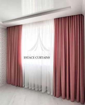 EUROPEAN MODERN COTTON LINEN CURTAINS image 1