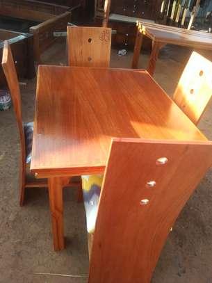 4 seater mahogany dining table image 6