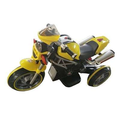 Children's Classic Ride-On Motorcycle-(Yellow) image 1