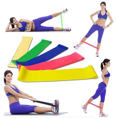 5 In 1  Yoga Stretch Out Strap Resistant image 1