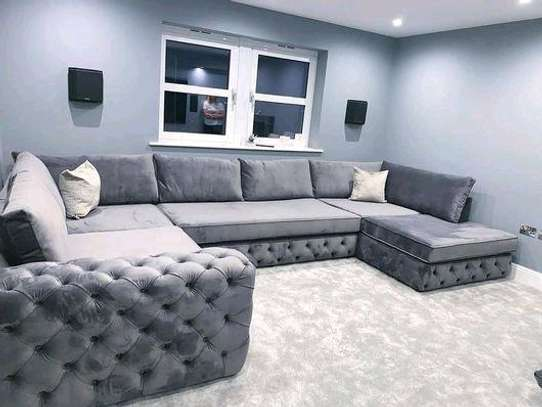 Eight seater U shaped grey sofas for sale in Nairobi Kenya/Modern chesterfield sofas for sale in Nairobi Kenya/Sofas and sectionals kenya/Chesterfield sofas for sale in Nairobi Kenya image 1