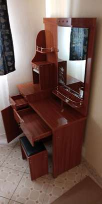 Makeup dressing table with doors and drawers image 1