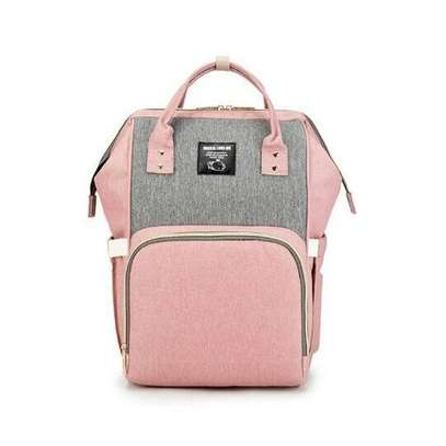 Diaper Bag -Pink & Grey