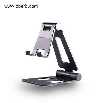 Cell Phone Stand, Angle Adjustable Phone Holder for Desk, Aluminum Foldable Mobile Phone Stand Compatible with All Smartphone, for Android image 1