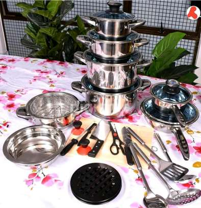 30pcs stainless cookware image 1