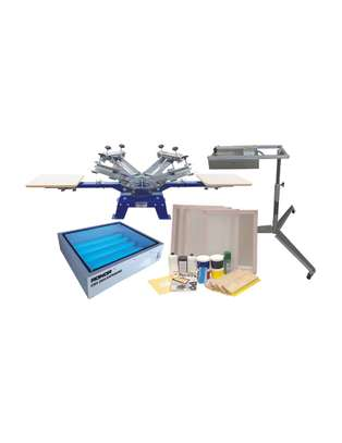 Our 4 Color 4 Station Single Rotary Screen Press image 1