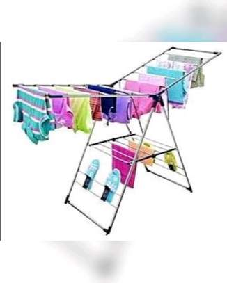 Foldable clothes drying rack. image 1