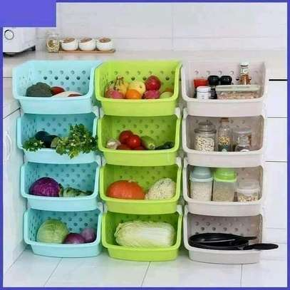 Green quality vegetable rack image 1