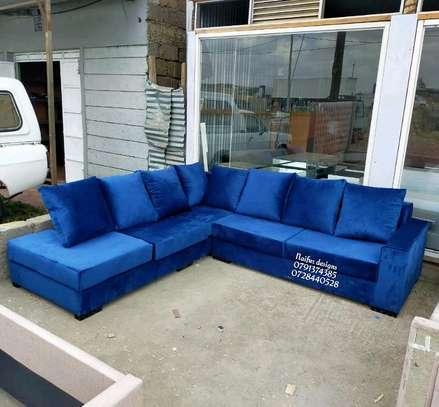 Blue L shaped sofa for sale in Nairobi Kenya/Modern L seats sofas/six seaters sofas for sale in Nairobi Kenya image 1
