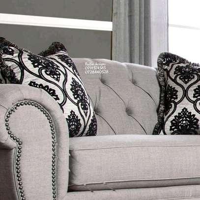 Three seater sofa plus two seater sofa/complete set of sofa/beige sofas/modern sofas/tufted sofas image 4