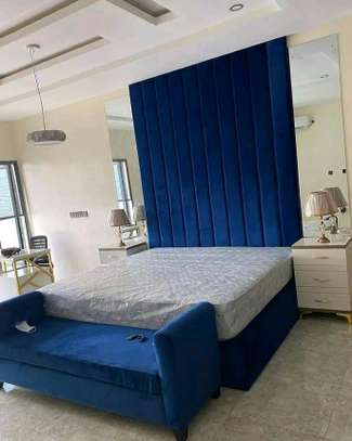 BLUE TUFTED KINGSIZED BED/MODERN BEDS IN NAIROBI image 1