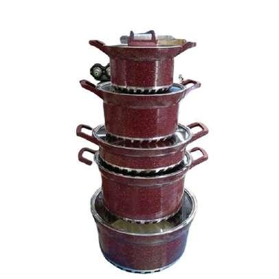Non Stick Cooking Pots - 5 Pieces - image 1