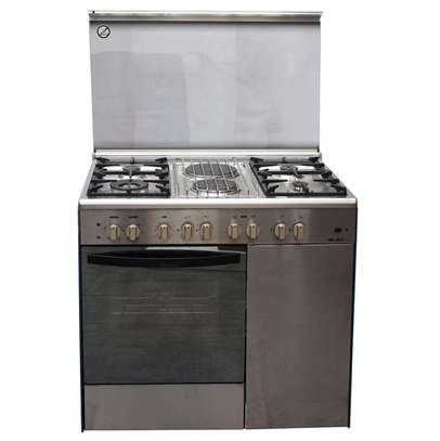 GAS+ 2 ELECTRIC + GAS COMPARTMENT STAINLESS STEEL ELBA COOKER- EB/165 image 1