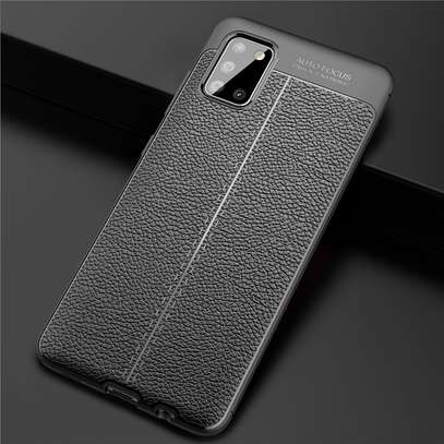 Auto Focus Leather Pattern Soft TPU Back Case Cover for Oppo A92 image 4
