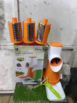 Rotary grater/vegetable slicer/5 in 1 rotary drum image 2
