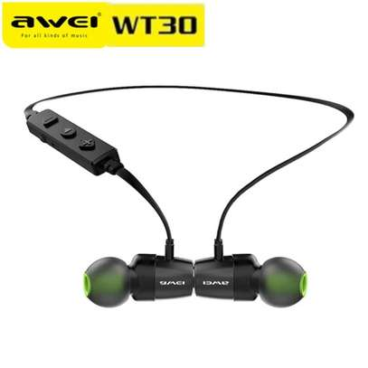 Awei WT30 Magnetic Sports Bluetooth Earphone Earbuds image 1