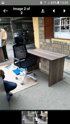 Office desk and headrest chair. image 1