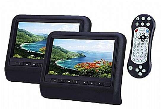 9inch HD LED Clip on Active Car Headrest Monitor with DVD Player Function.[pair] image 1