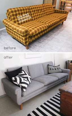 Three seater refurbished sofa image 1