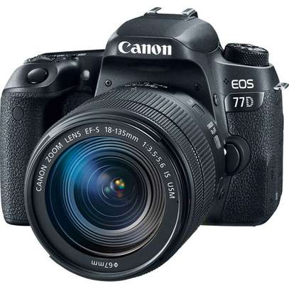 Canon EOS 77D DSLR Camera with 18-135mm USM Lens image 1