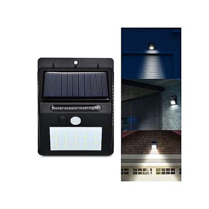 LED Solar Power PIR Motion Sensor Wall Light Outdoor Waterproof Garden Lamp,get one LED bulb 3W-white image 5