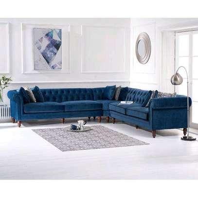 Modern blue three seater chesterfield sofas for sale in Nairobi Kenya/Corner sofas for sale in Nairobi Kenya image 1