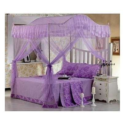 Mosquito Net with Metallic Stand (Curved) 6 by 6 - Purple image 1