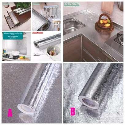 *Silver Kitchen Aluminum Foil /Kitchen Table Top Mat image 1