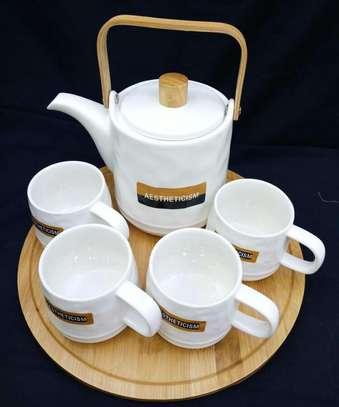 Tea set/bamboo holder image 1