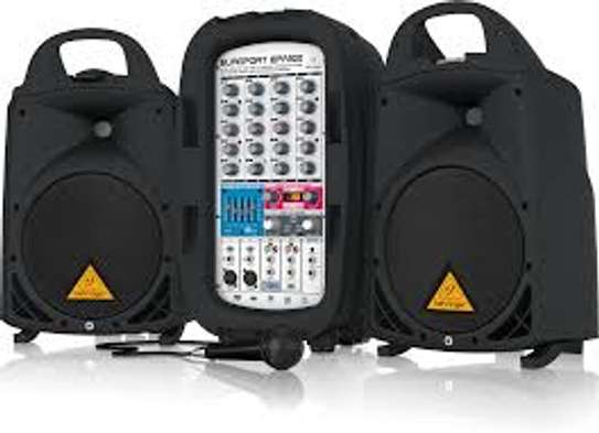 Behringer EPA300 Europort 300W 6 Channel Portable PA System for sale image 1
