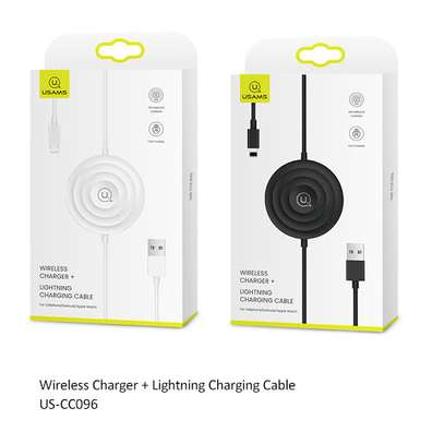 USAMS Wireless Charger + Lightning Cable for iPhone / Apple Watch / Airpods